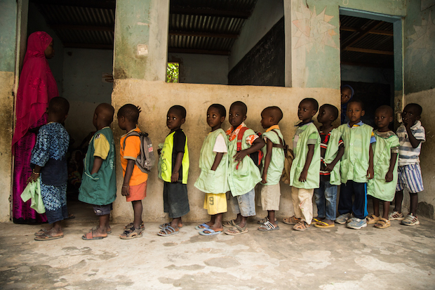 Children in a tradictional Koranic school, in Dakar, Senegal.