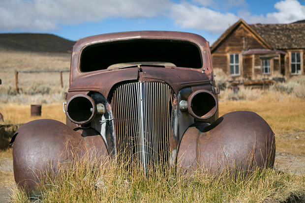 Bodie, California, USA. Old haunted gold rush ghost town.