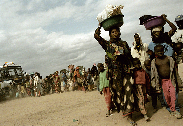 KENYA. Kakuma. Arrival to Kakuma. 2002.