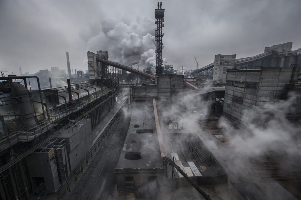 AKHZ (Avdiivka Coke & Chemical Plant) is Europe' largest coke production, Avdiivka, Ukraine, October 22 2015 Photographer: Dmitri Beliakov/ for Der Spiegel