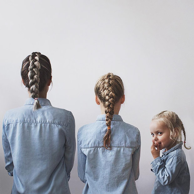 Daughters Steal the Show on Minimalist Fashion Instagram