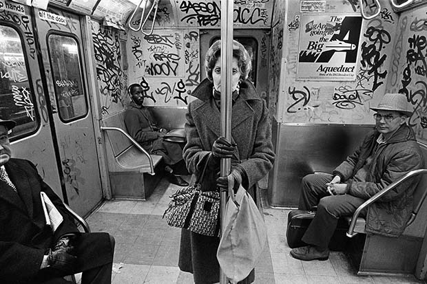 CC Train, NYC, 1982 © Richard Sandler / The Eyes of the City