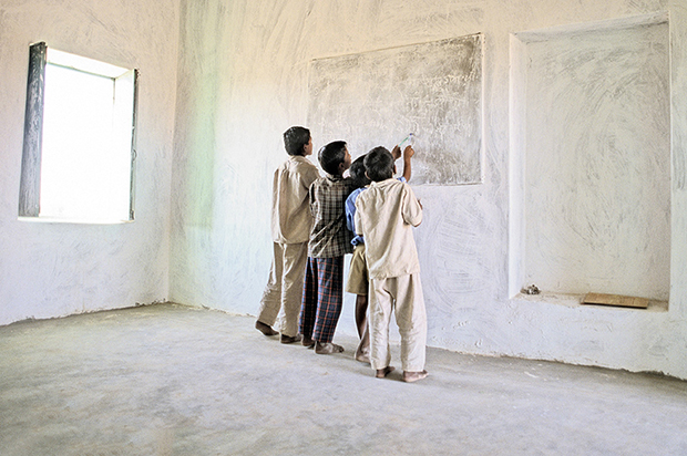 Rajasthani school children, Nimb Ki Dhani Village, Rajasthan, India