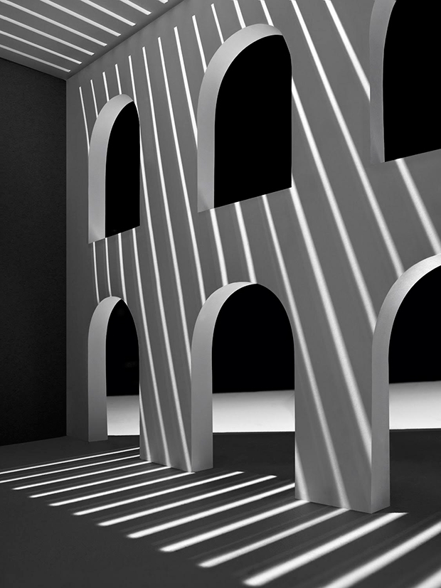 Behold These Bold Minimalist Interiors Made Of Paper And