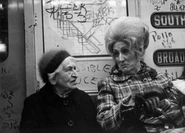 Discreet Portraits of People on The New York City Subway in the 70's
