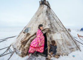 Lena, the pregnant Nenets woman Alegra documented